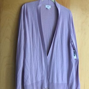 NWT Old Navy lavender open cardigan size XL